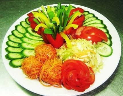 как красиво подать овощи