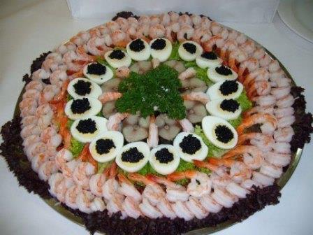 как украсить рыбную тарелку