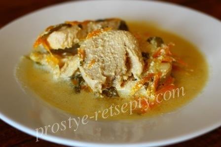 Сочное и вкусное куриное филе в мультиварке