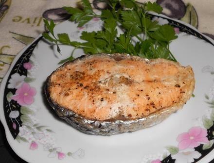 лосось в духовке
