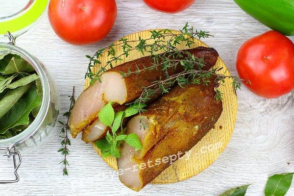 куриное филе горячего копчения