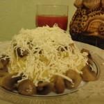 как приготовить банош с грибами