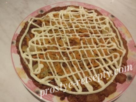 торт печеночный слои