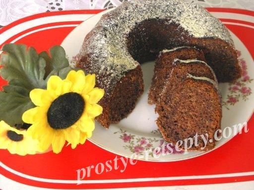 вкусный шоколадный кекс