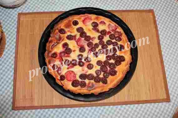 песочный пирог с вишней
