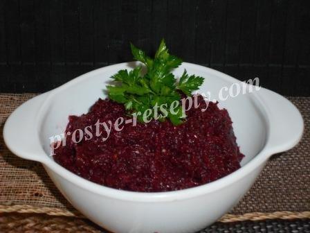 салат свекла с черносливом