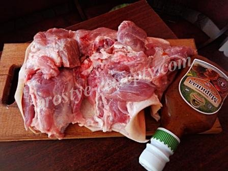 мясо и маринад
