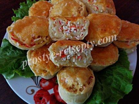 закуска крабовые палочки сыр