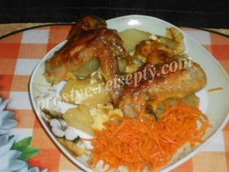 картошка с крылышками