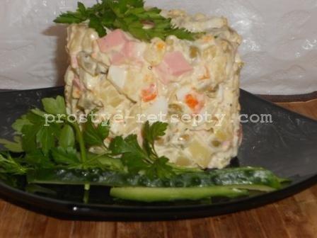 салат оливье классический рецепт с колбасой