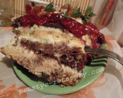 вкусный бисквитный торт