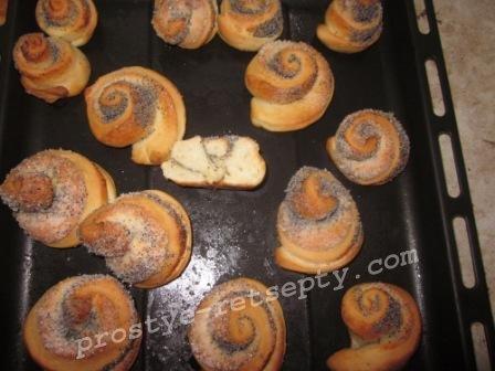 выпечь булочки с маком