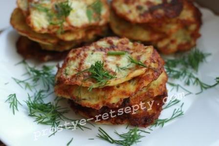 оладьи из кабачков, рецепт с фото