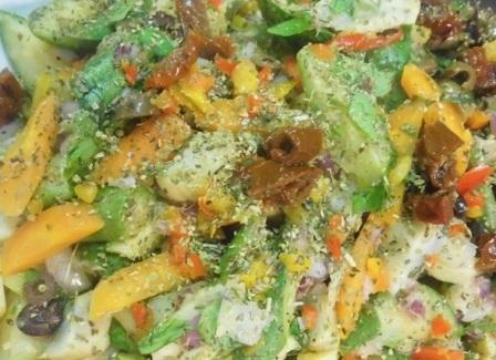 салат с вареными кабачками