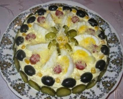 салат торт с картофелем