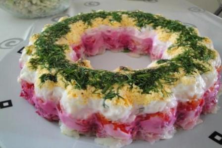 салат как торт