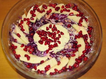 салат с красной капусты