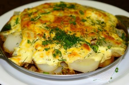 курица по-французски с картошкой в духовке