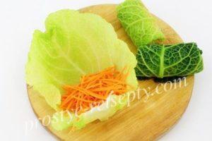 морковку завернуть в листики