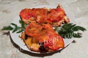 отбивные из курицы с грибами