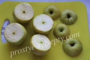 срезать шляпки у яблок