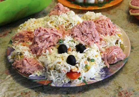 салат собачка