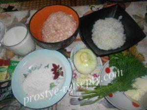 продукты для тефтелек