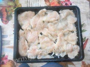выложить куриное филе