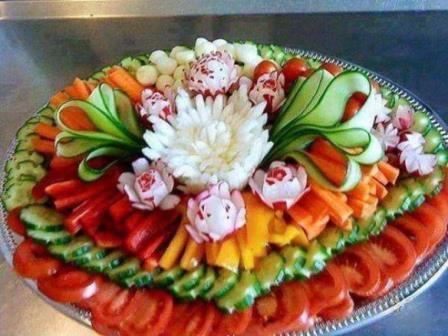 красивая подача овощей