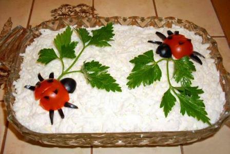 украшение из помидоров