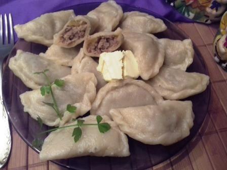 вареники с картошкой и мясом