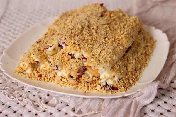 десерт с ежевикой