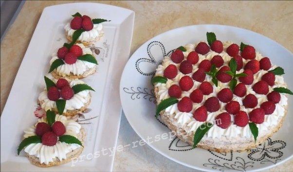 домашний торт кокосовая нежность
